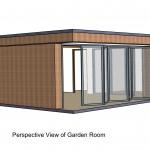 4w x 6w x 1.75w + 0.25w - 4w + 2w Folding Doors Flat Roof - Doub