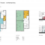 2 bed plan contemporary
