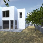 G 2 bed rear render